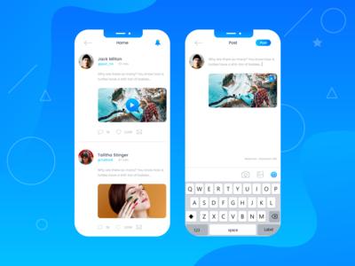 Social Post Concept Apps