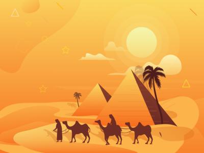 Beautiful Egypt Illustration