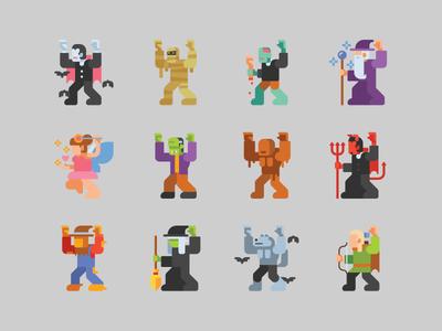 Halloween Theme Characters