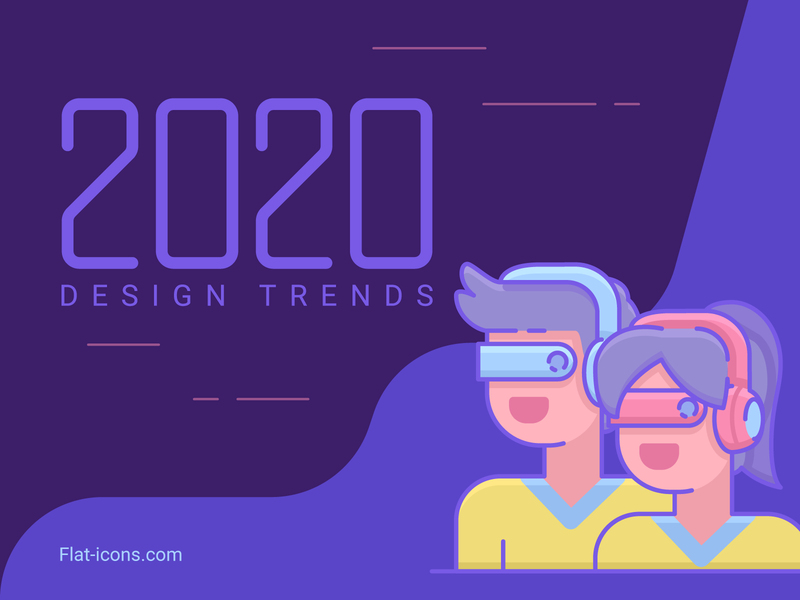 2020 Design Trend Predictions new wave cyberpunk flat icons icon design 2020 trend design predictions design trends