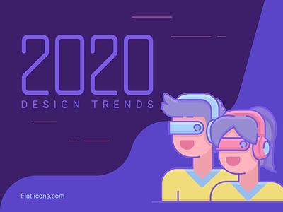 2020 Design Trend Predictions new wave cyberpunk flat icons icon design 2020 trend design predictions design trends