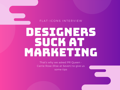 Carrie Rose Interview branding marketing agency how to be a good marketer profile relationship building client content designers flat icons blog icons illustration rise at seven carrie rose marketing pr interview