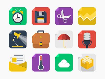 20 Free Square Icons square icons icon set icons flat design flat free freebie