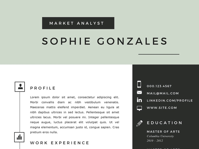 resume template in word for mac by krafted dribbble dribbble