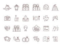 Free Wedding Line Icons