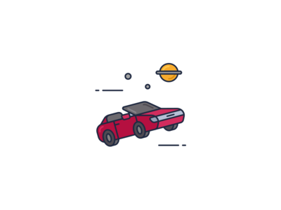 Space Roadster Icon space car icon roadster space