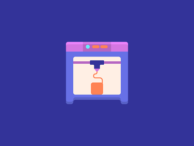 3D Printing Icons flat 3d icon 3d printing icons 3d printer icon 3d printing icon icon design iconography icons icon illustration vector
