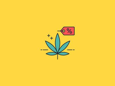 Marijuana Icons outline color cannabidiol cannabis thc cbd weed marijuana icons icon illustration vector