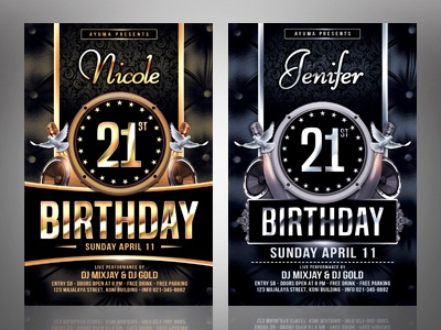 Birthday Flyer Template By Ayumadesign Dribbble Dribbble