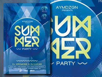 Minimal Summer Party Flyer palm beach flyer beach party beach party flyer minimal flyer minimal summer flyer design flyer template summer party flyer summer flyer summer