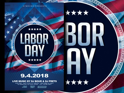 This Flyer Template Is Great For Poromote Your Events In American Holiday:  Eg. Labor Day Party, A Memorial Day Parade, A Patriotic 4th Of July  Celebration, ...