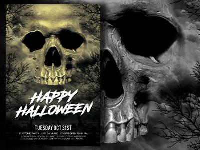 Halloween Flyer Template skull print template template poster design flyer design flyer template horror movie poster horror poster movie poster halloween poster halloween flyer halloween