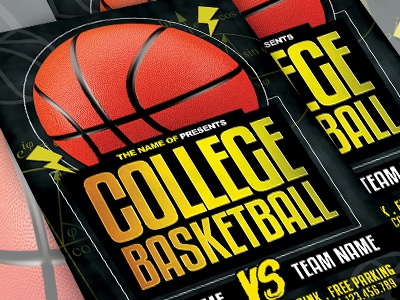 College Basketball Flyer Template By Ayumadesign Dribbble