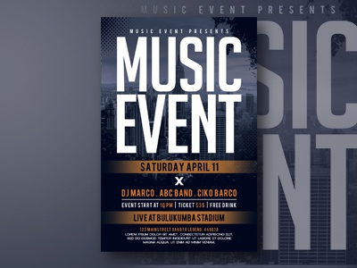 event flyer size