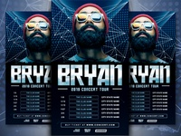 DJ Tour Dates Flyer Template