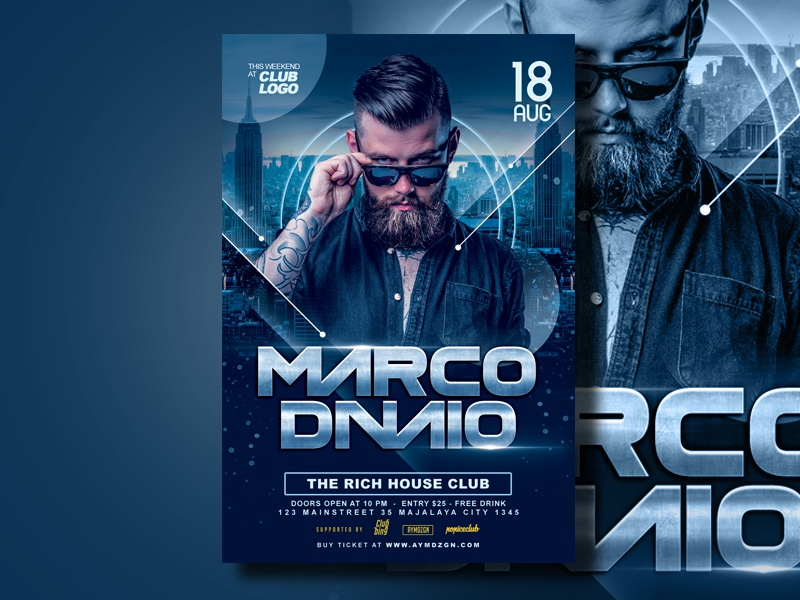 DJ Flyer Template by AyumaDesign on Dribbble