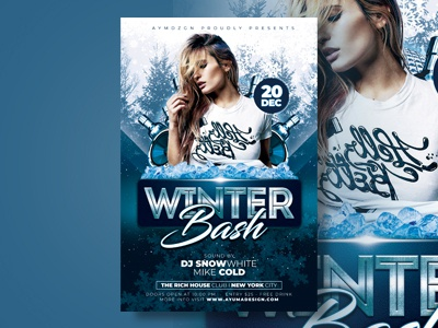 Winter Flyer Template from static.dribbble.com