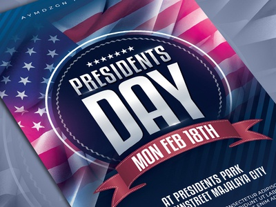 Presidents Day Flyer Template