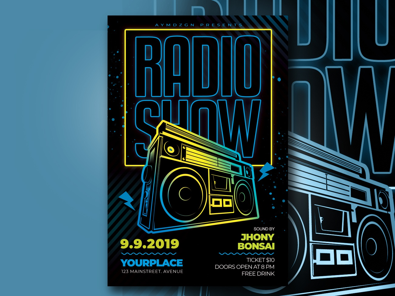 Radio Show Flyer Template by AyumaDesign on Dribbble