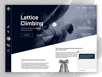 Lattice Climbing landing page
