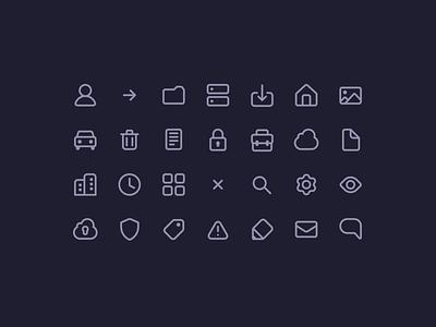 Iconset icon set design ui icon