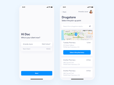 [WIP] Medical App prototype design mobile app app design product design ui ux wip