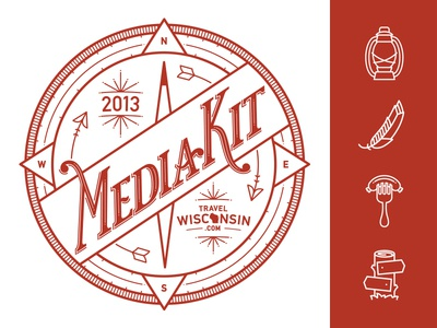2013 Wisconsin Media Kit Logo & Icon Set