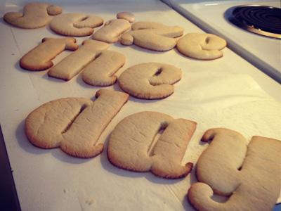 Dribble kerningcookies