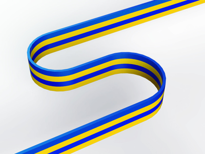 S's personalbrand identity yellow blue render 3d graphic lettering s