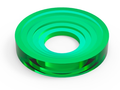 Extrusion Cicle personal concept playing test blue circle. green