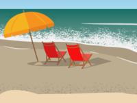 Animating a beach scene