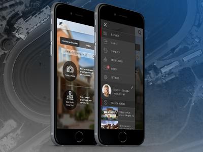 Realestate app menu