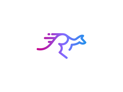 Kangaroo Logo redesign hidden meaning marathone logo run logo r letter logo r logo hidden message animal logo modern logo pictorial mark negative space simple logo icon logo