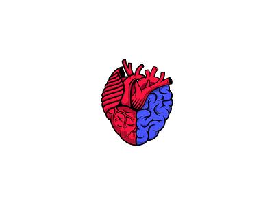 Heart and Brain Logo icon mind logo healthcare logo heart and brain brain icon heart icon love logo brain logo heart logo logo