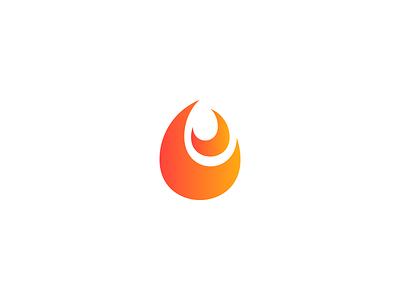Fire Logo minimalist logo hot fire icon fire fire logo modern logo pictorial mark negative space simple logo icon logo