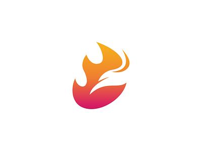 Phoenix Logo eagle logo fire icon flame logo fire logo fire bird logo bird logo phoenix logo negative space logo modern logo pictorial mark simple logo icon logo