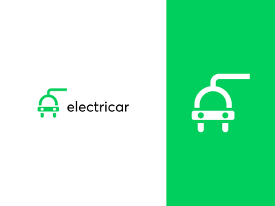 Electric Car Logo Concept modern logo plug logo socket logo electric plug tesla logo electric car electric car logo simple logo icon logo