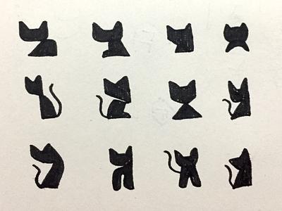 Cats Logo Sketch process cat vector black cat kitten logo cat logo modern logo pictorial mark simple logo icon logo
