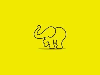 Elephant Logo outline logo children logo logo animal logo elephant logo