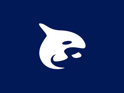 Whale Logo smart logo baby fish fish logo whale whale logo animal logo modern logo pictorial mark simple logo negative space icon logo