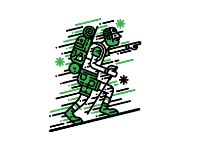 The Hiker the great outdoors walking hiking t-shirt design vector illustration vector character design illustration