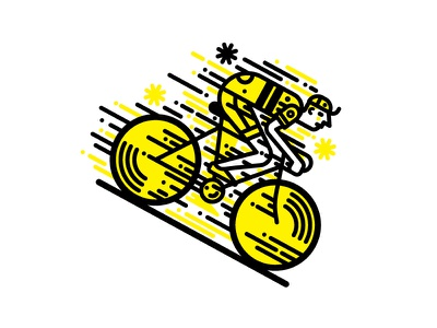 The Cyclist  fixie bikes racers racing bikes bikes cycling t-shirt design vector illustration vector character design illustration