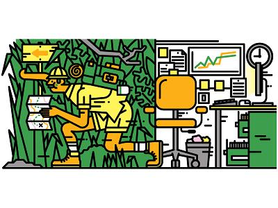Harvard Business Review character design illustrator editorial illustration editorial vector illustration illustration