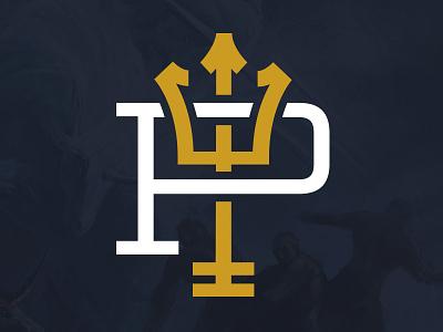 Poseidon Boats Logo logo design brand poseidon icon lockup boat boats branding logo