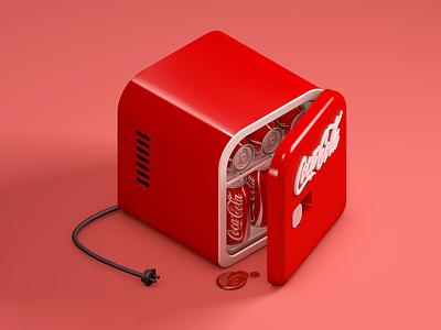 Coca Cola Refrigerator red cola coca refrigerator icon 3d