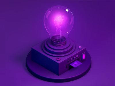 Idea light bulb idea 3d