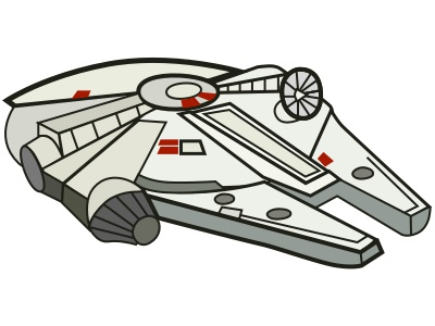 Millennium Falcon spaceship millennium falcon star wars