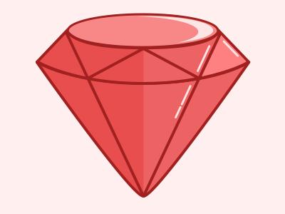 Ruby shiny pink red stone gem ruby