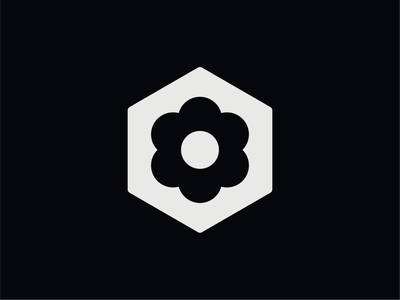 WW041 - Flower Box Logo flower logo designer logo design brand identity branding logotype logo startup logo tech logo hexagon logo abstract logo gardening logo florist logo flower logo