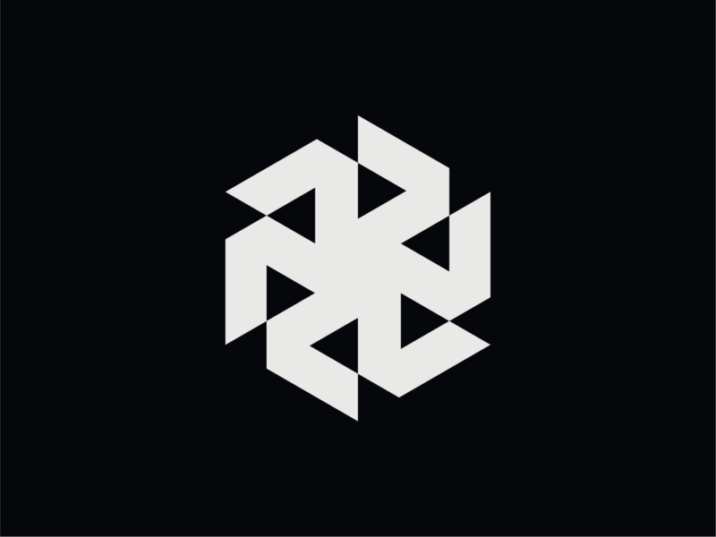 WW042 - Hexagon Logo 2 logo design symbol brand identity branding logotype logo construction logo minimalist logo hexagon abstract logo startup logo tech logo mechanic gear logo